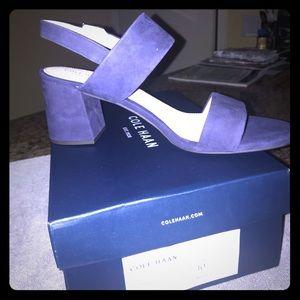 Cole Haan Asanti Sandals blue suede